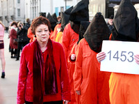 Sarah Ludford MEP at London demonstration marking the 10th anniversary of Guantanamo Bay