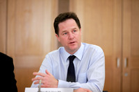 Nick Clegg Holds Summit Meeting on Constitutional Reform at Portcullis House Westminster